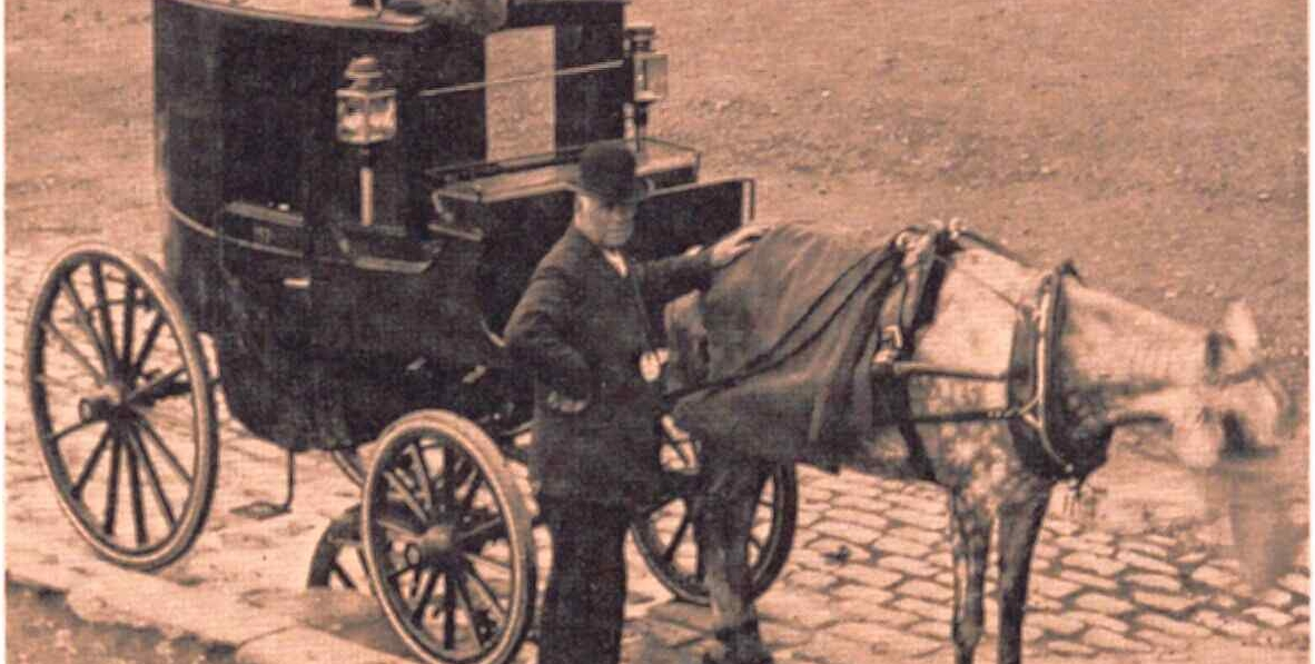 london taxi cab in 1850
